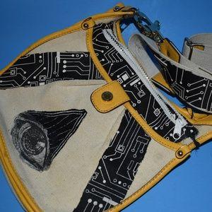 Handbags - Alter Glamour Punk Eye Purse Yellow Black